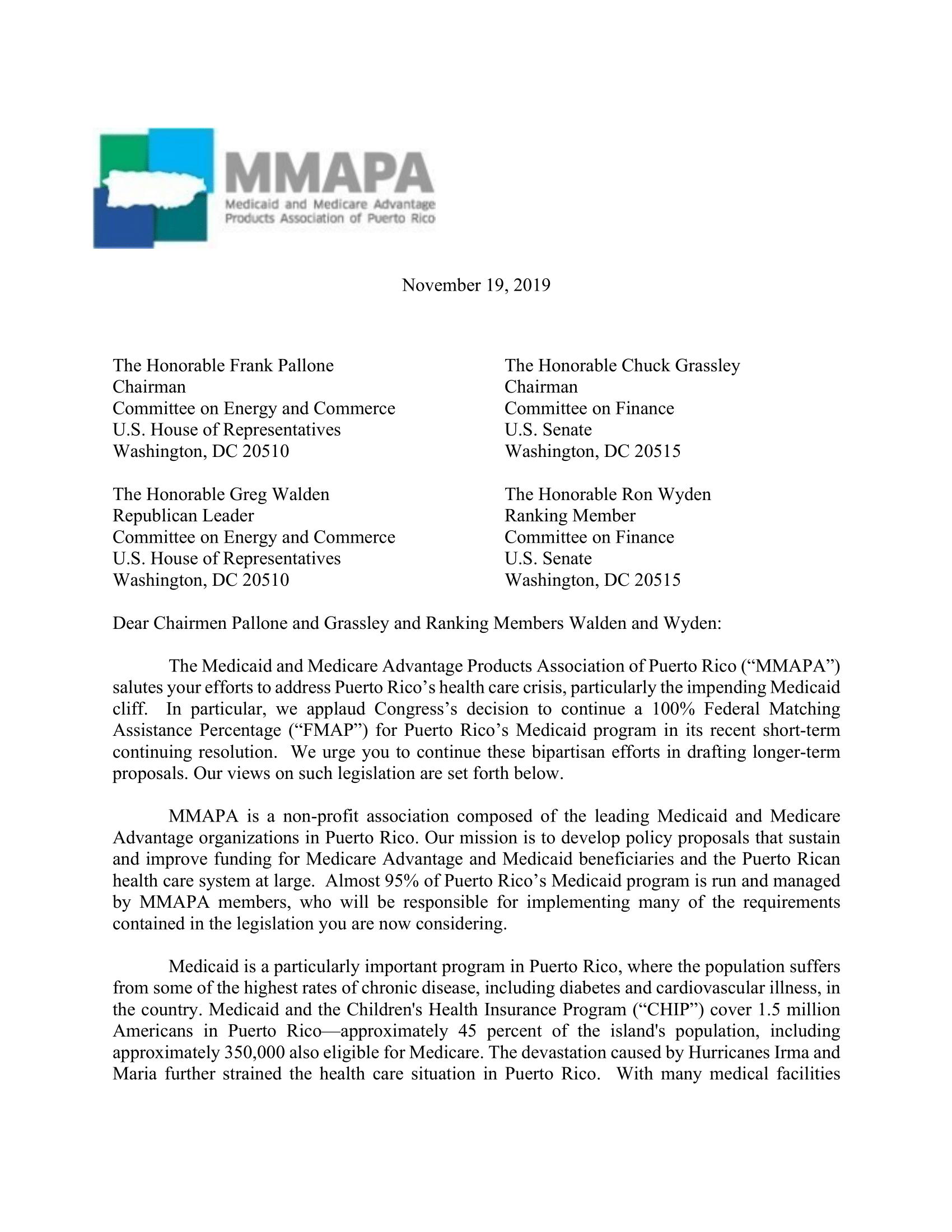 MMAPA Pallone-Walden-Grassley-Wyden Letter FINAL-1