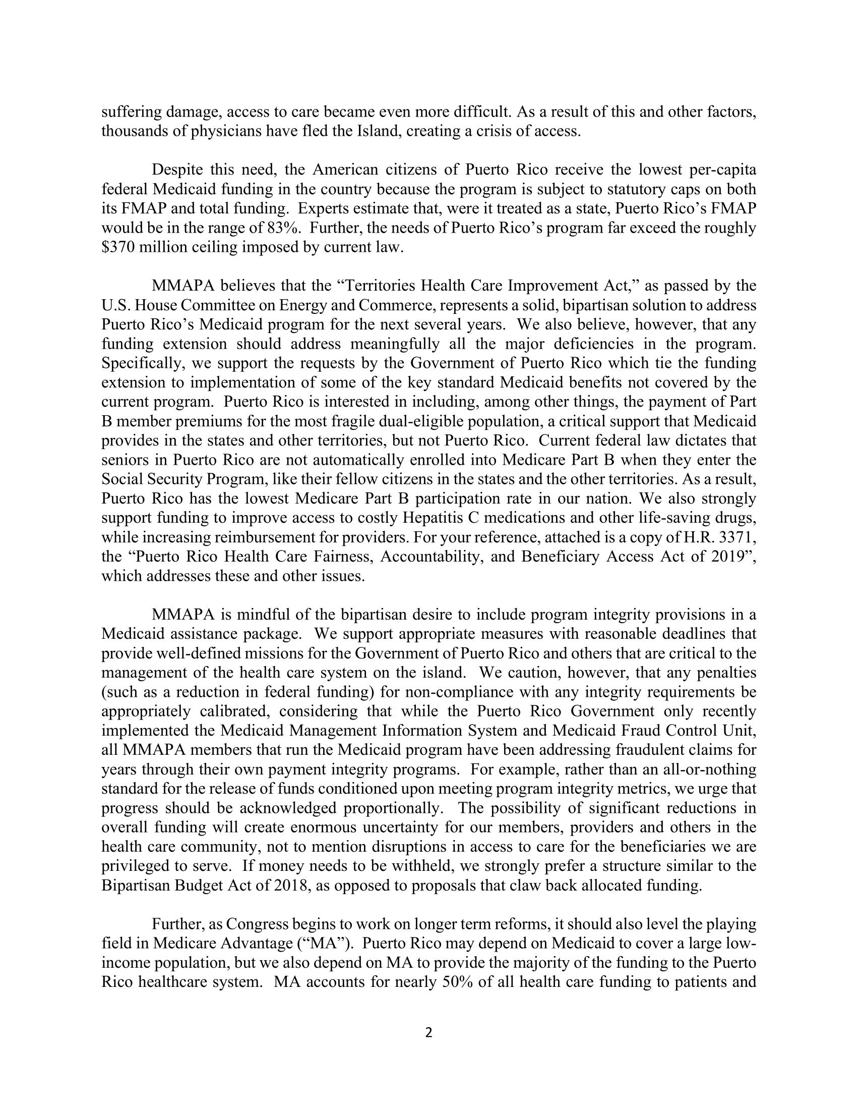 MMAPA Pallone-Walden-Grassley-Wyden Letter FINAL-2